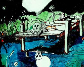 Halloween Card Now - Halloween art - Halloween decoration - Halloween download art - card art - Deep Thoughts