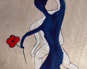 Me, Quantum Entanglement & a Poppy (10 x 8)