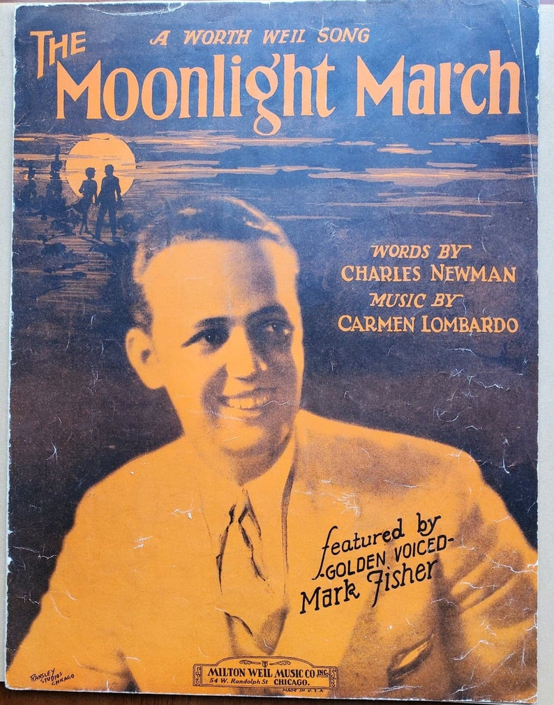 The Moonlight March Mark Fisher Vintage Sheet Music 1929 image 0