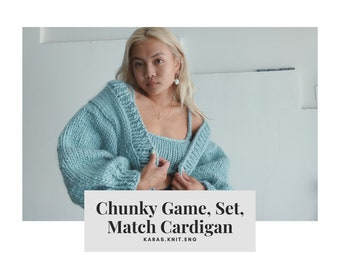 Chunky Game, Set, Match Pattern CARDIGAN ONLY