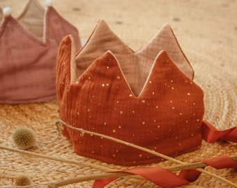 Crown sewing pattern PDF, sewing guide included, easy level