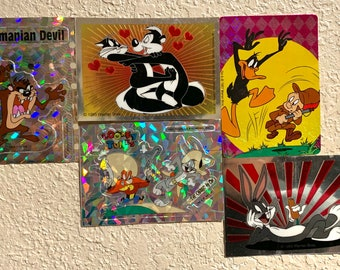 Vintage Looney Toons holographic sticker pack 2