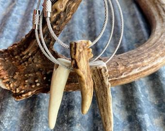 Antler keychain. Deer antler key chain. Elk antler keychain.