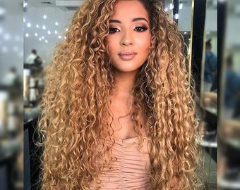 Tracy | Long Curly Blonde