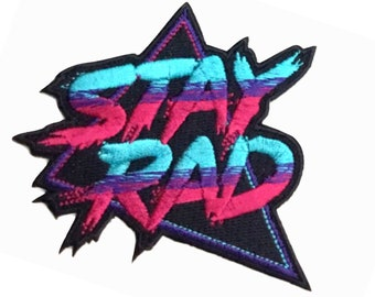 Stay Rad Patch - 80s, 90s Cool Patch - Iron On/Sew On - Colorful Embroidered Cool Patch by PatchClub