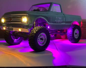 Axial SCX24 BLUE LED Rock Lights C10 Jeep Deadbolt B17 Betty Plug And Play