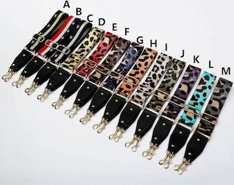 Adjustable strap/female bag accessories/leopard print long shoulder strap/single shoulder and crossbody lengthened wide shoulder strap