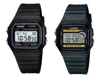 Casio F91-W & F-94W Classic Digital Retro Sports Alarm Stopwatch Black UK Seller