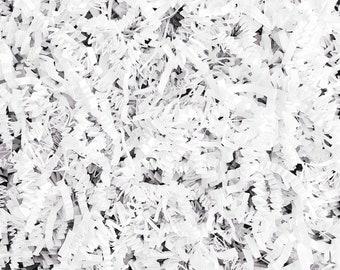 White Crinkle paper cut, crinkle paper filler, white gift basket filler, gift box shred, Eco friendly, 2oz, 4oz, 6oz, 8oz bag, FREE Shipping