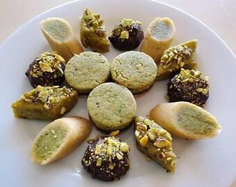 Assorted Pistachio Marzipan Candies (Dozen)