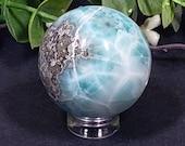 Gorgeous 30mm Larimar Sphere
