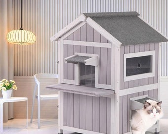 Cat House Indoor Etsy