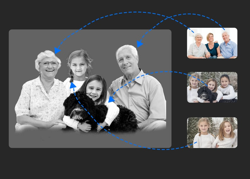 add family to photo Add Deceased Loved One To Picture-black and white photo Add Person To Photo