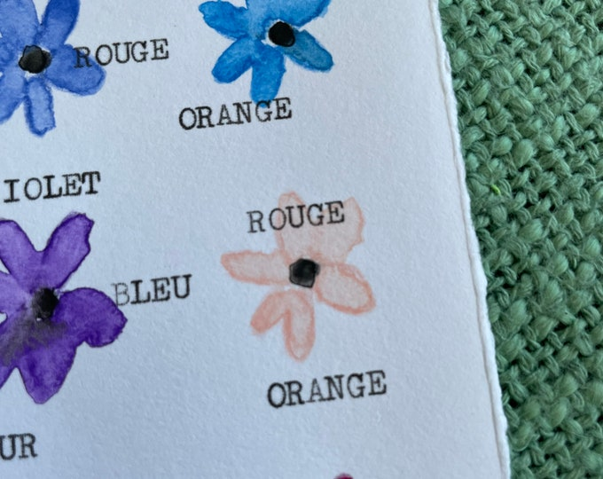 Flower and colour map