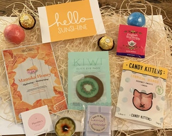 Sunshine in a Box. Pick me Up Box. Feel Good Box. Readymade Gift Boxes