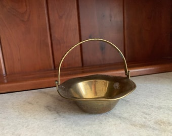 Vintage Indian Brass Basket Dish