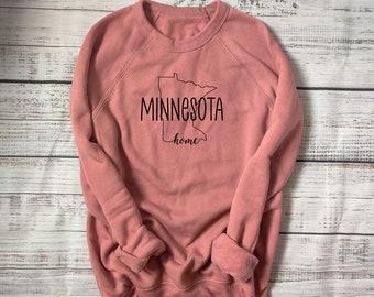 Minnesota sweatshirt, MN hoodie, Minnesota home, comfy Minnesota sweatshirt, home state hoodie, comfy MN clothes, MN home state