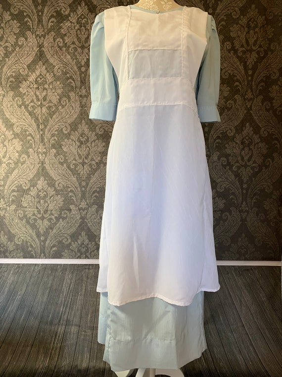 Amish Dress with Pinafore Apron / Handmade / Amish