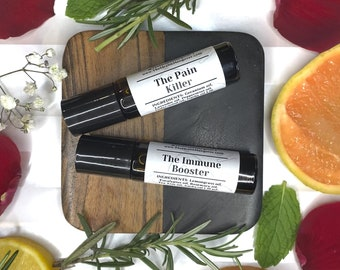 Aromatherapy Gift Set, Scented Perfumes, Migraine Relief Kit, Headache Relief Oil, Immune Rescue Kit, Immune Booster, Immune Support