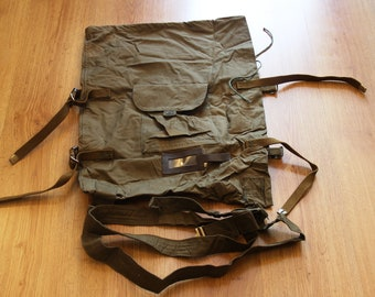 Russian Army military Minesweeper Bag Box with shoulder strap USSR 1988 vintage canvas durable brezent Afghan war 1979-89 rare