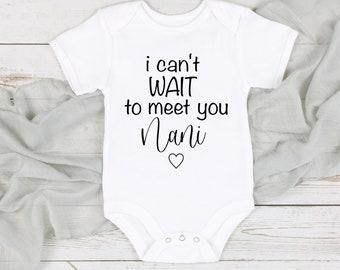Bodysuit Baby Onesie\u00ae Can/'t Wait to meet you Pregnancy announcement Onesie\u00ae,Baby shower gift, I Can/'t Wait To Meet You Grandpa Onesie\u00ae
