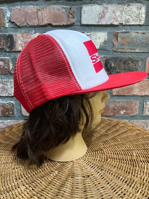 Vintage Sharp red mesh trucker SnapBack hat - image 3