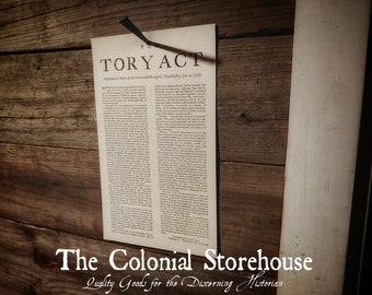1776 Tory Act Broadside