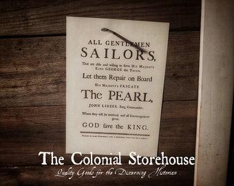 1778 All Gentlemen Sailors Broadside