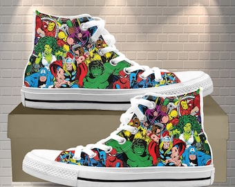 Hot Sale Marvel animation S.H.I.E.L.D cosplay High help Casual canvas shoes
