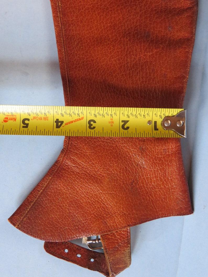 Vintage Button Up Leather Gaiters Victorian Edwardian Child Size Museum Quality Antique