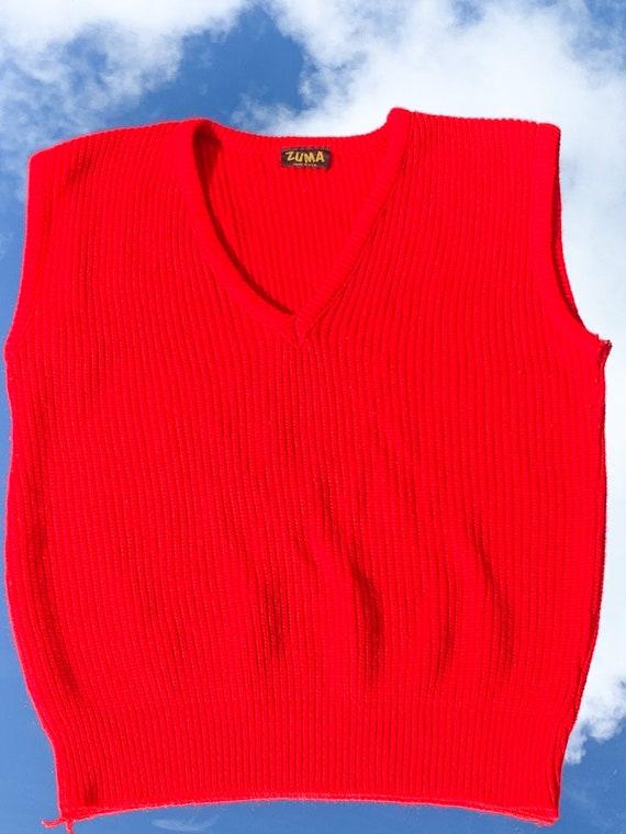 1X Crocheted Handmade Hooded Fest Vest Duster Length Purple XL One size Large