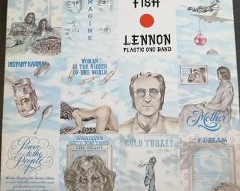 BEATLES JOHN LENNON SHAVED FISH  COLLECTIBLE LENNON SHIRT 2 SIDED PRINT