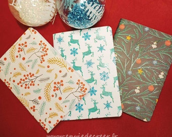 Customizable A6 Christmas Notebook - Light Iridescent Reflections - A to BB Patterns