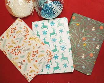 Customizable A6 Christmas Notebook - Light Iridescent Reflections - CC to AM Patterns