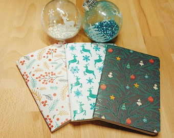 Customizable A6 Christmas Notebook - Metallic Accents - Patterns 33 to 60