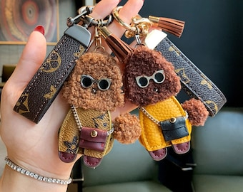 Poodle Key Chain luggage tag dog owner gift purse charm