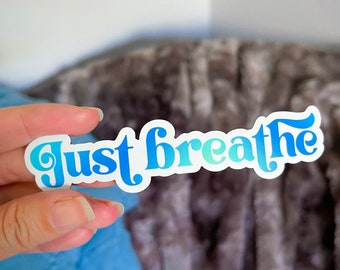 Just Breathe Magnet / Anxiety Magnet / Self-Care Magnet / Daily Reminder Magnet / Positivity Magnet / Happy Magnet / Mental Health Magnet