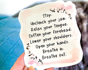 Release Tension Reminder Magnet / Anxiety Magnet / Anxiety Mantra / Daily Reminder Magnet