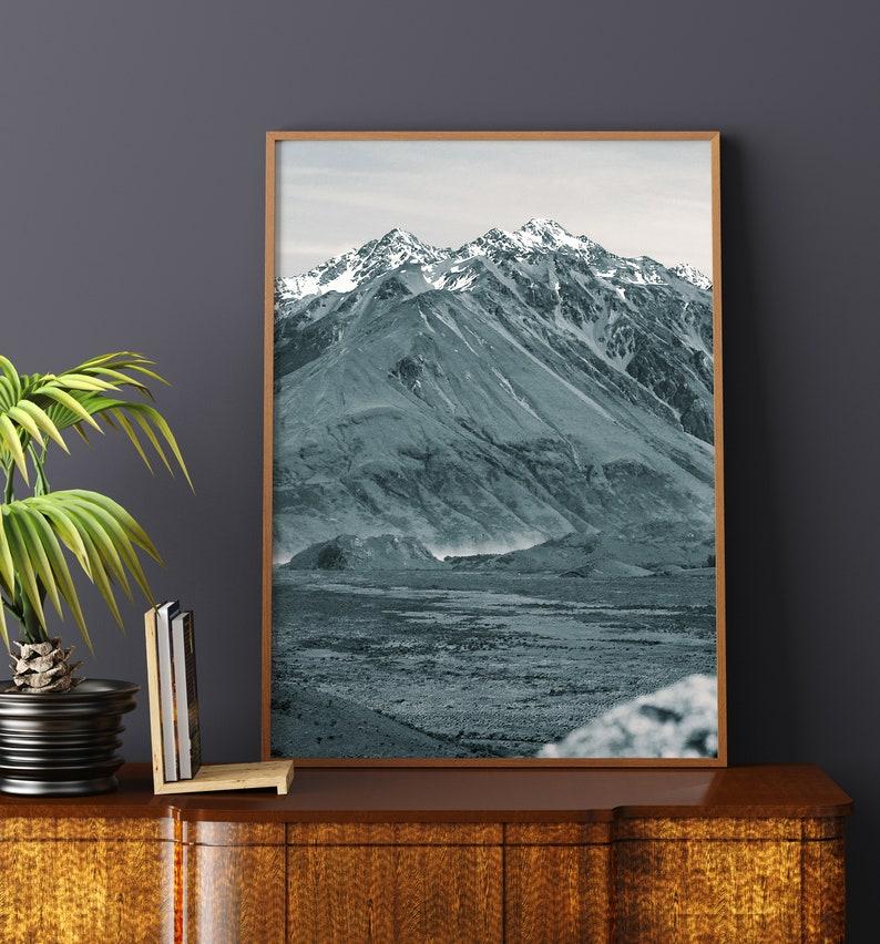 Travel Photo Digital Download Print Mountaintop Epic Adventure Photo Black /& White Mountain Landscape Print Aerial Photo