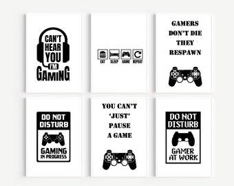 Gamers Prints, Gaming Prints, Boys Prints, Teen Boys Prints, Gaming Bedroom, Gamers Bedroom Prints, Posters, Computer Games Prints