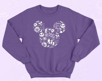 Mickey Disney Halloween collage sweater