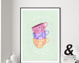 Disney's Alice in Wonderland Tea Cups Digital Art