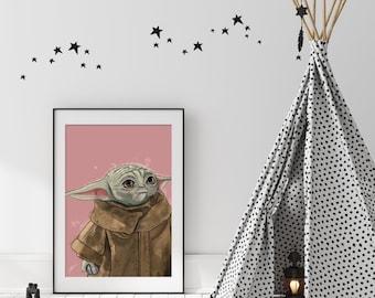 Baby Yoda, The Child, Grogu Digital Print