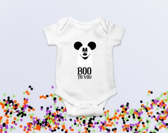 Boo to you - Glow in the dark Mickey Mouse Romper for baby's