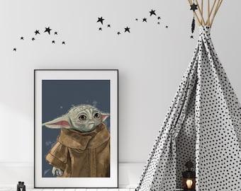Baby Yoda, The Child, Grogu Digital Art