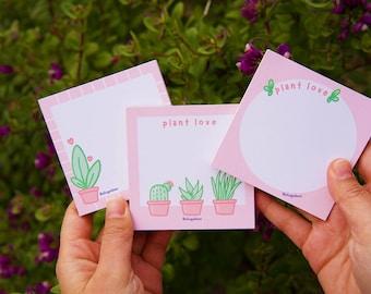 Succulent Notes Pink Plant Love Memo Pads Cute Memo Pads