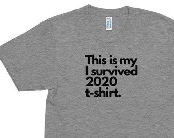 My I Survived 2020 Men's/Unisex Tri-Blend Track Shirt
