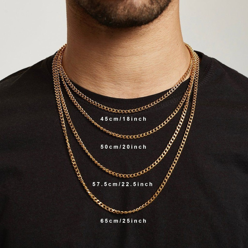 Men\u2019s chain silver  length made to order can be a bracelet or necklace mens figaro chain men\u2019s curb chain silver gold gift for him