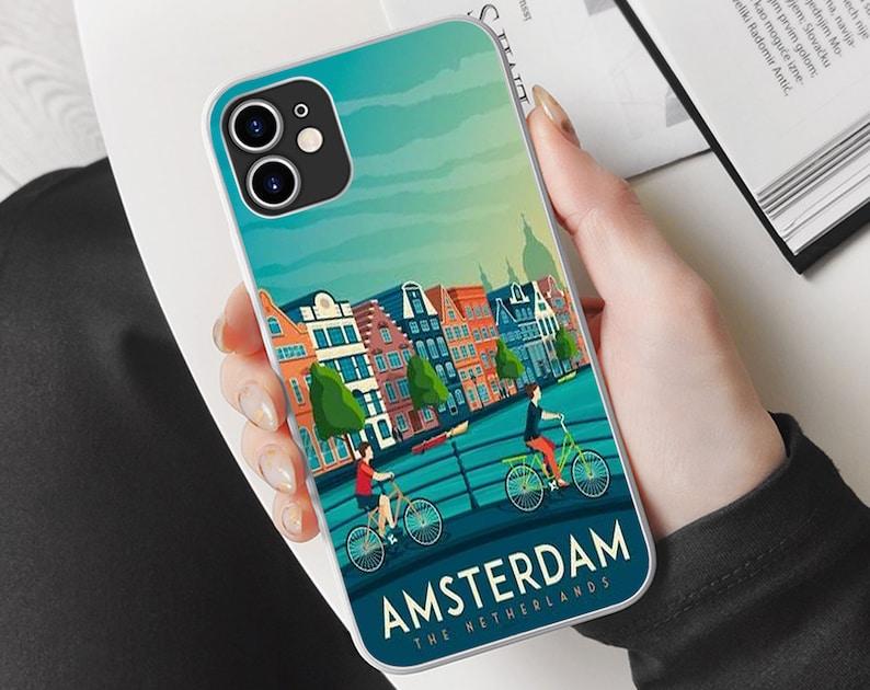 Netherlands travel Phone Case Xs,8,7,6,5 Amsterdam iPhone Case X iPhone 12 Pro Case travel iPhone Case iPhone 11 Case