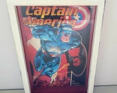 Decoupage Captain America Marvel Comic Book Shadow Box Wish Coin Bank